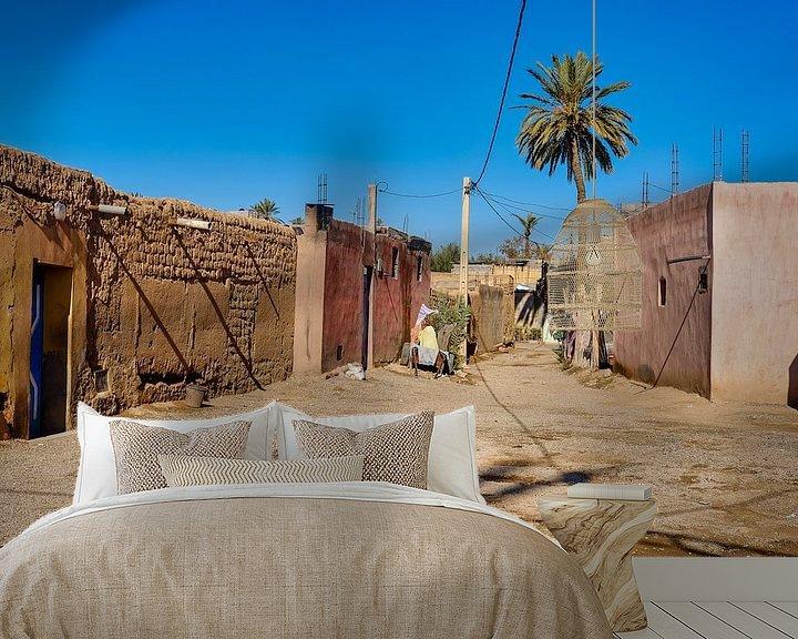 Sfeerimpressie behang: Straatje in dorpje van Els Hattink