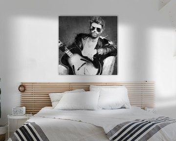 Ölgemälde-Porträt von George Michael von Bert Hooijer