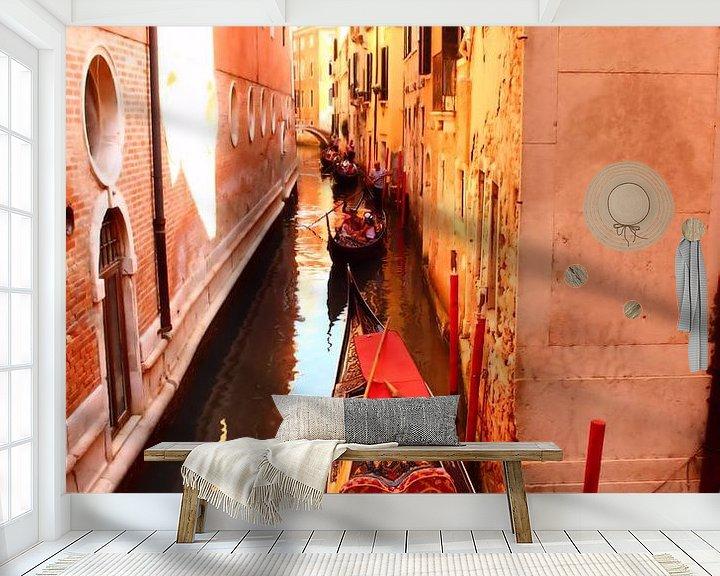 Impression: Gondalas sur le canal sur Loretta's Art