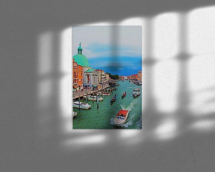 Impression: Le canal avant la tempête sur Loretta's Art