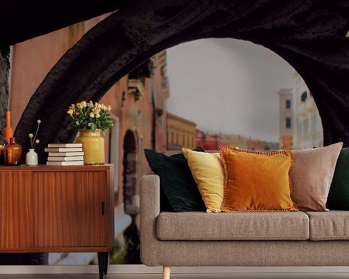 Impression: Vue du canal de Venise encadrée sur Loretta's Art