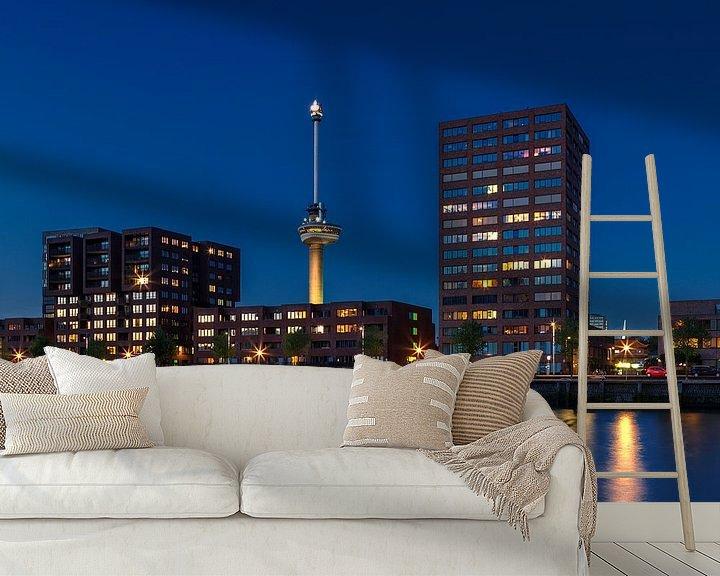 Sfeerimpressie behang: De Sint Jobshaven Rotterdam van Rob van der Teen