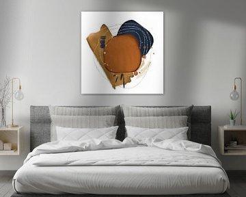 Abstrakte Kunst mit Aquarellformen von Diana van Tankeren