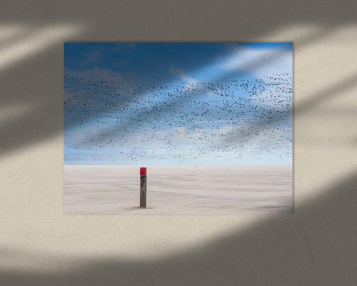 Beispiel: Vogelperspektive bei Sandsturm von Jan Huneman