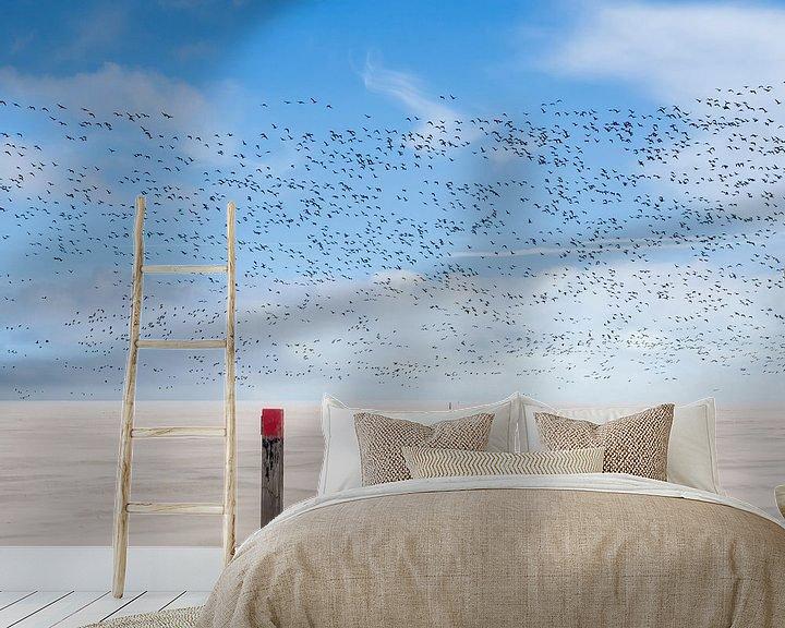Beispiel fototapete: Vogelperspektive bei Sandsturm von Jan Huneman
