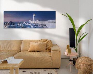 Vuurtoren Sassnitz op het eiland Rügen in de diepe winter van Voss Fine Art Fotografie