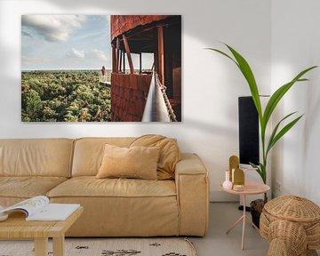 Uitkijktoren De Bosbergtoren in Appelscha, Friesland van Expeditie Aardbol
