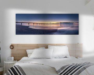 Oostzee bij Scharbeutz in het zachte ochtendlicht van Fine Art Fotografie