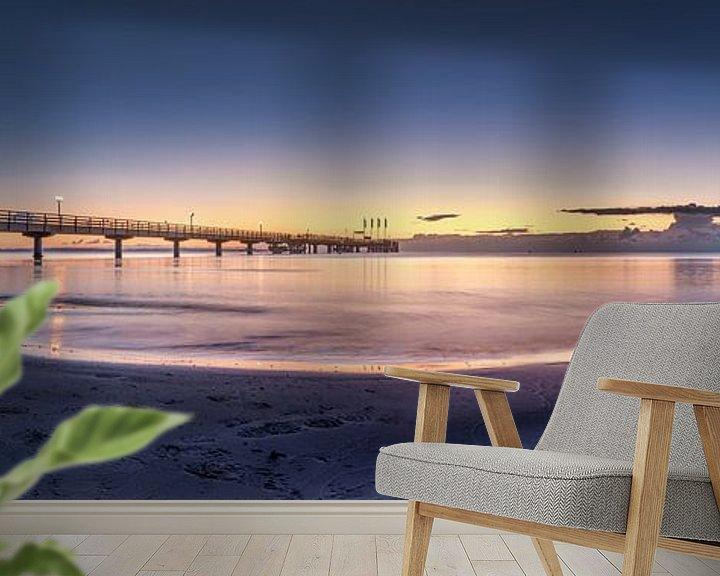 Sfeerimpressie behang: Oostzee bij Scharbeutz in het zachte ochtendlicht van Voss Fine Art Fotografie