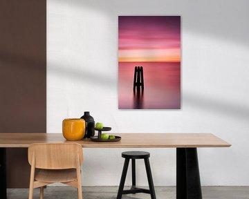 Duckdalbe aan de Oostzee bij zonsopgang van Fine Art Fotografie