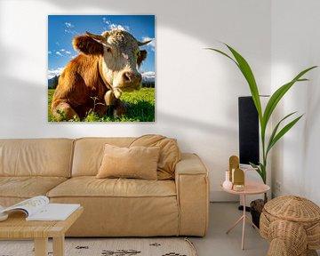 Portait einer glücklichen Kuh von PhotoArt Thomas Klee