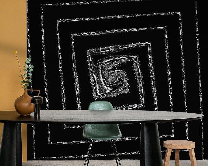 Sfeerimpressie behang: Fractal 2020 - #27 van Petra Dreiling-Schewe
