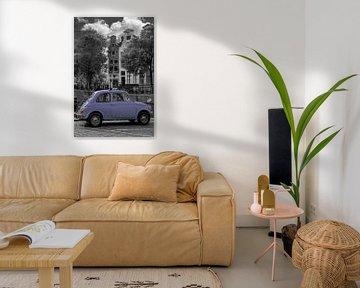 Vintage Fiat 500 oldtimer in Amsterdam