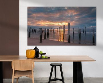 Zonsondergang bij Palendorp in Petten, Noord-Holland