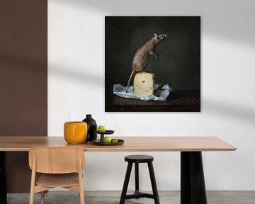 Rat met kaas van Carolien van Schie