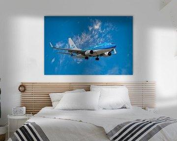 KLM Boeing 737-700, registratienummer PH BGK. Naam Noordse Stormvogel van Gert Hilbink
