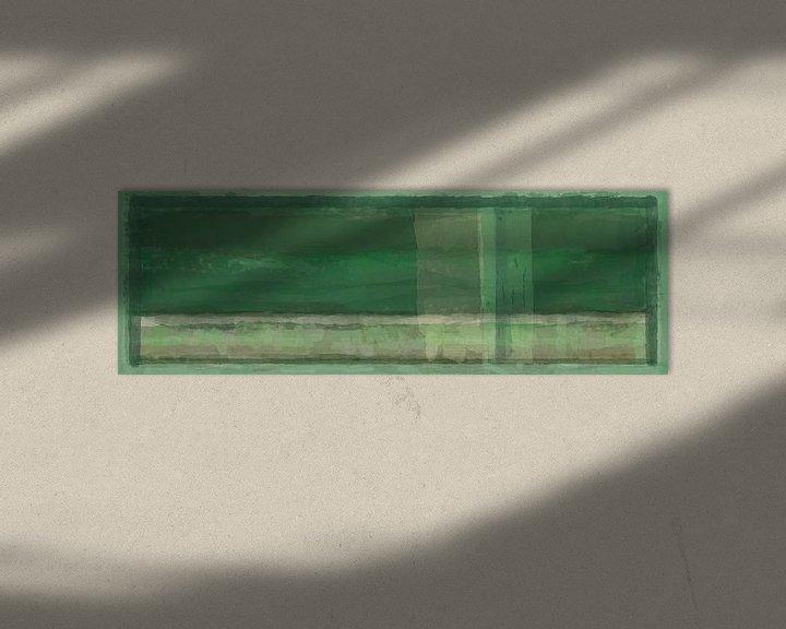 Beispiel: Panorama 'Rothko', Grüntöne von Rietje Bulthuis
