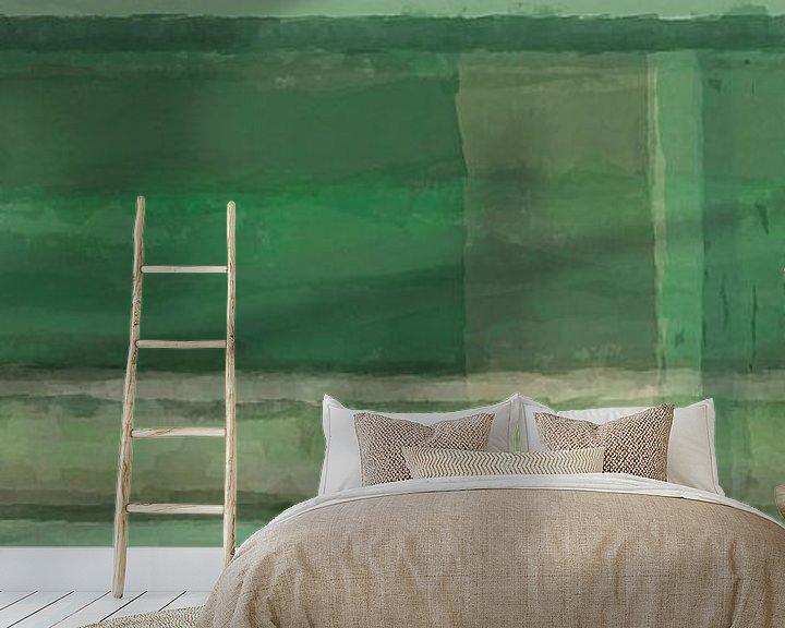 Beispiel fototapete: Panorama 'Rothko', Grüntöne von Rietje Bulthuis