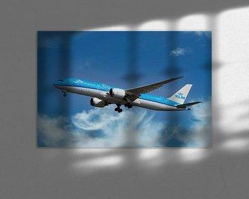 Boeing 787-9 Dreamliner, KLM met reg.nummer PH-BHE, genaamd Dahlia van Gert Hilbink