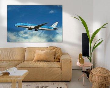 KLM Boeing 787-9, reg. PH-BHD, Bougainvillaea van Gert Hilbink