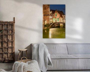 Bruggetje Delft bekend van van tekening Anton Pieck van Erik van 't Hof