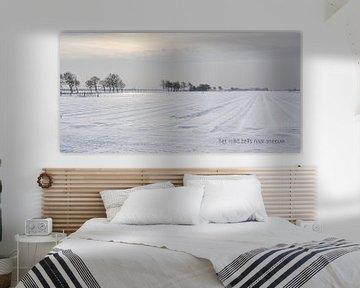Sneeuwlandschap met tekst von Bargo Kunst