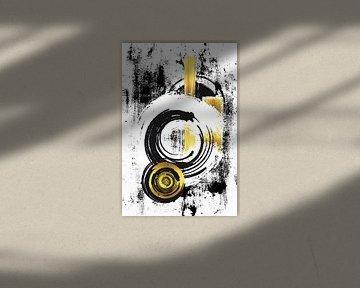 Abstrakte Malerei Nr. 33 | gold von Melanie Viola