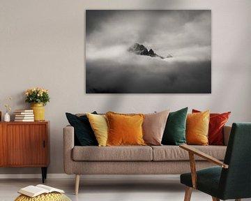 Bergspitzen in den Wolken von Steffen Peters