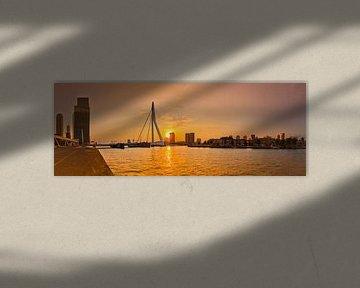 Panorama Erasmusbrug Rotterdam van Ronald Dijksma