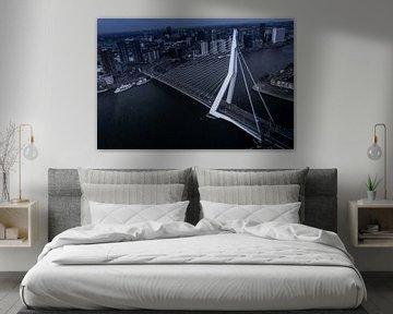 Erasmus-Brücke Rotterdam aus der Luft von UniQaps