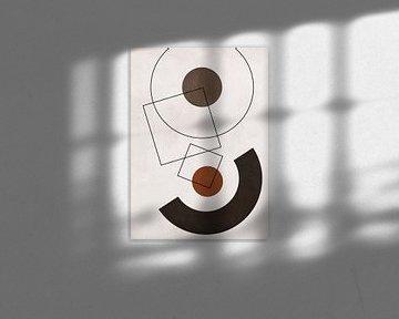 Geometrische Kunst mit abstrakten Formen von Diana van Tankeren