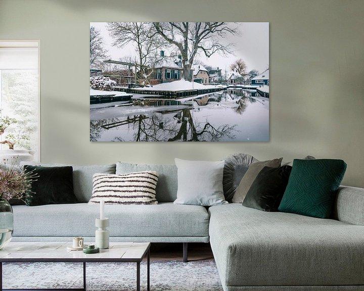 Sfeerimpressie: Winter in Dwarsgracht bij Giethoorn met de beroemde kanalen van Sjoerd van der Wal