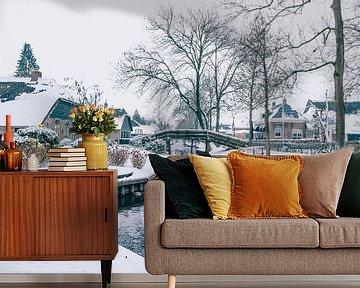 Winter in Giethoorn met de beroemde kanalen van Sjoerd van der Wal