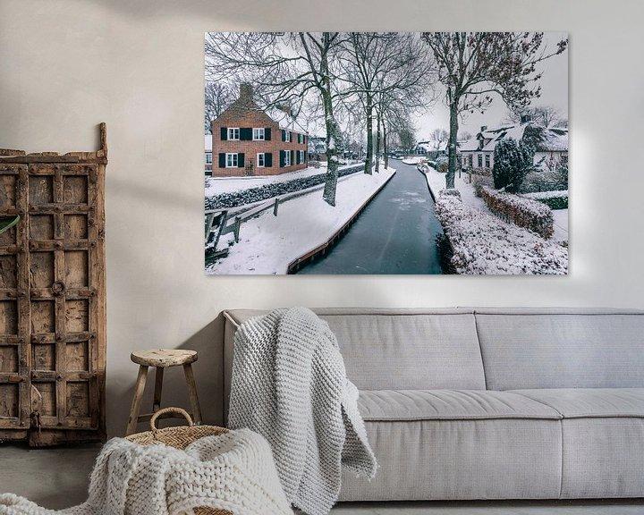 Sfeerimpressie: Winter in Giethoorn met de beroemde kanalen van Sjoerd van der Wal
