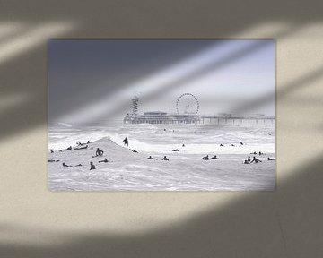 Nordsee-Surfen und die Scheveninger Mole von Jop Hermans