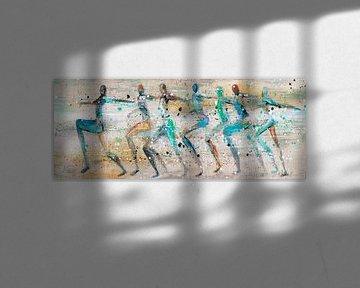 Laufende Menschen von Atelier Paint-Ing