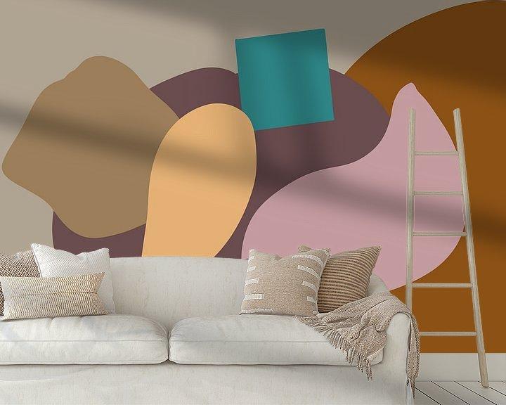 Sfeerimpressie behang: Kleurige vlakken van MishMash van Heukelom