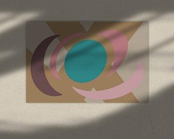 Plans circulaires colorés