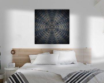 Mandala blau und grau von Sabine Wagner