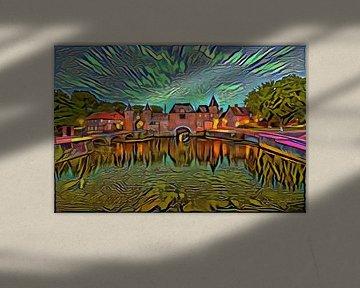 Kleurrijk werk van Amersfoort: Koppelpoort in de stijl van Picasso