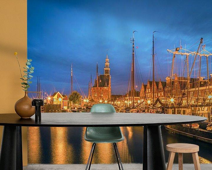 Impression: Le port de Hoorn après le coucher du soleil sur Henk Meijer Photography