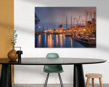 Le port de Hoorn après le coucher du soleil sur Henk Meijer Photography