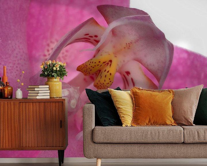 Sfeerimpressie behang: Orchidee hart van Tanja van Beuningen