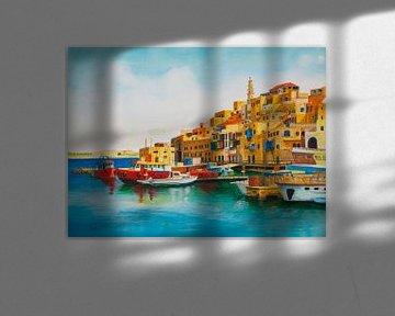 Hafen mit Booten von David Soekana