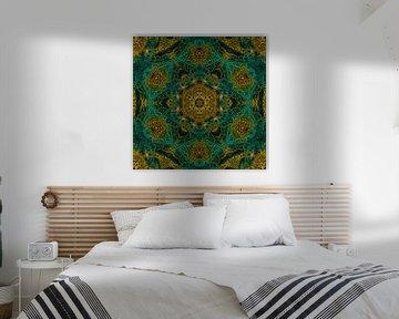 Mandala Fischernetz grün von Sabine Wagner
