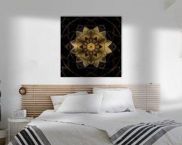 Mandala leuchtender Stern von Sabine Wagner