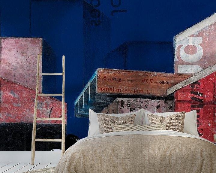 Sfeerimpressie behang: THE BLUE BUILDINGS van db Waterman