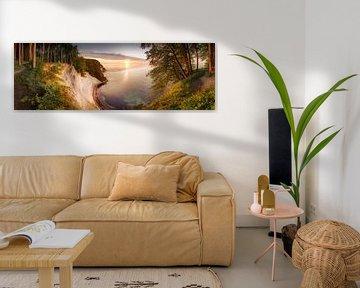 Krijtrotsen in het nationale park Jasmund op Rügen van Voss Fine Art Fotografie