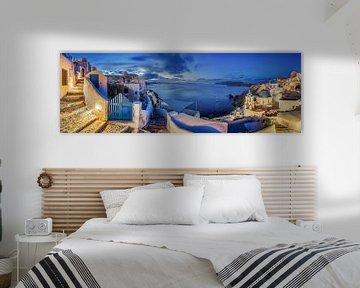 Santorin in Griechenland am frühen Morgen von Fine Art Fotografie