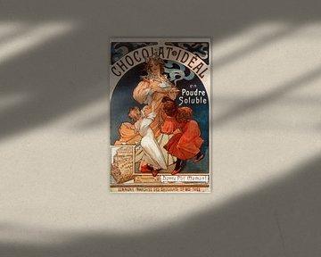 Chocolate Ideal - Alphonse Mucha